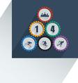 Olympic gear wheel vector image vector image