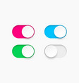 on and off toggle switch buttons vector image