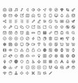 outline icons for web and mobile 152 glyph vector image vector image