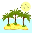 palm tree in island on background vector image vector image