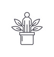 personal development line icon concept personal vector image vector image