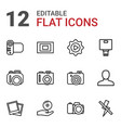 picture icons vector image vector image