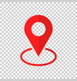 pin icon location sign in flat style isolated on vector image
