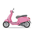 pink retro scooter flat style side view vector image vector image
