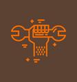 plumbing service logo vector image vector image