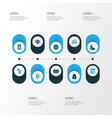 religion icons colored set with calendar mimbar vector image