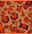 seamless pattern decorative indian style vector image vector image