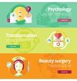 Set of flat design concepts for psychologyst vector image