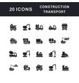 set simple icons construction technology vector image vector image