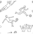 soccer football player game match fans line icons vector image vector image