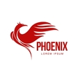 Stylized graphic phoenix bird resurrecting in vector image vector image