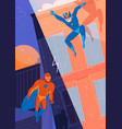superheroes fight comics vector image vector image