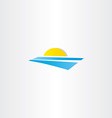 tourism summer sun water logo element vector image