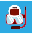travel concept snorkeling equipment vector image