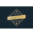 vintage old style shield logo icon template vector image vector image