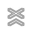 warning signs multipath railway line icon vector image vector image