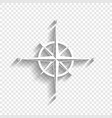 wind rose sign white icon with soft vector image vector image