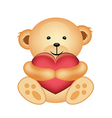 Cute Teddy Bear with Heart vector image
