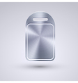 full metal icon on blue background Eps10 vector image