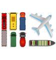 top view transport cargo vector image