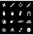 white terrorism icon set vector image