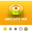 Abocado mix icon in different style vector image vector image