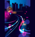 abstract urban night light bokeh defocused vector image vector image