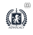 Advocacy isolated icon or emblem vector image