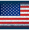 american flag in grunge texture vector image vector image