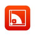 baseball field icon digital red vector image vector image