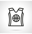 Basketball uniform black simple line icon vector image