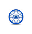 bicycle wheel in blue design with shadow vector image vector image