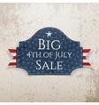 Big 4th of July Sale Emblem with Ribbon