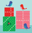 birds and gifts vector image vector image