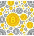 bitcoin coins seamless pattern vector image vector image