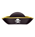 black pirate hate vector image vector image