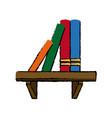 bookshelf literature learn encyclopedia library vector image