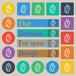 businessman icon sign Set of twenty colored flat vector image