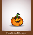 cartoon smiling halloween carved pumpkin vector image vector image