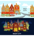City Banner Set vector image vector image