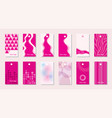 clothing label set vector image vector image