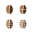coffee beans grinded on different sizes vector image