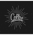 Coffee Lettering vector image vector image