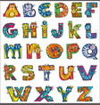 colorful funny cat alphabet vector image