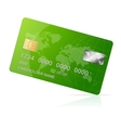 Credit Card green icon Isolated on white vector image vector image