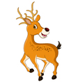 cute deer cartoon posing vector image vector image
