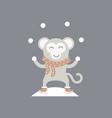 cute monkey logo logo design vector image vector image