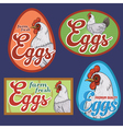 Eggs vintage labels set vector image vector image