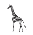 Ethnic ornamented giraffe vector image vector image