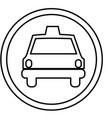 figure symbol taxi front car icon vector image vector image